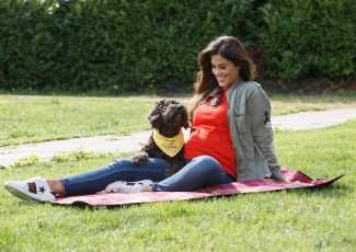 TV3's Glenda Gilson shares adorable baby bump snap as she launches Be Dog Smart Week with dog Yazzy